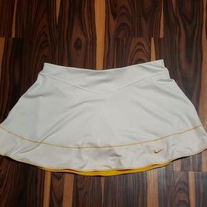 White and Yellow Nike Tennis Skort  Size M